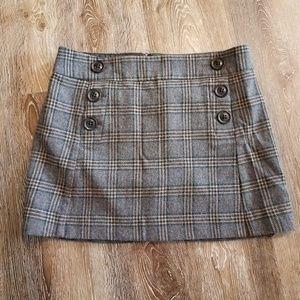 Gap Lined Plaid Wool Skirt Pockets 8